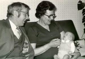 Opa, oma en kleinkind